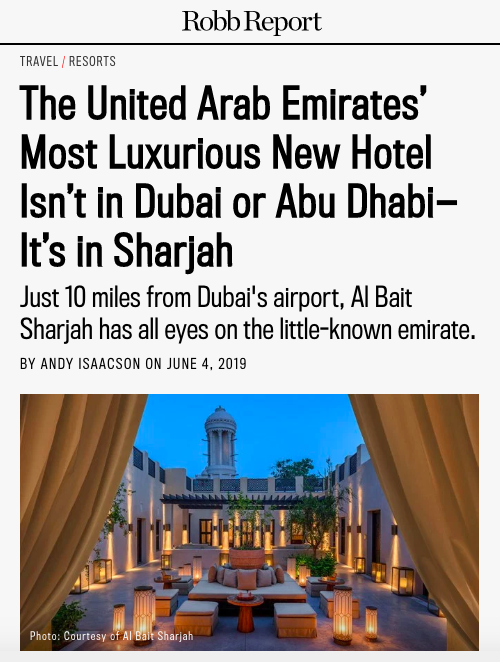 Al Bait Sharjah - Robb Report